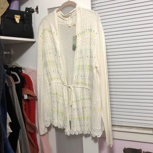 Anthropologie Beaded Knit Sweater 🦋